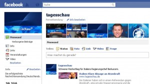 facebook-Seite der Tagesschau